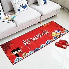 KYDJ Rot Polyester Teppich Ehe Raumaufteilung