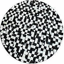 KYDJ Runde Kunstleder Teppich Restaurant Sofa Teppich Studie Matten 160 Cm (Farbe: 2)