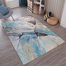 KYDJ Teppich Kunst abstraktes Muster Persönlichkeit Rutschfeste Atmungsaktiv (Größe: 140 * 200 cm)