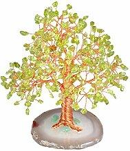 KYEYGWO Geld Baum auf Achat Basis Bonsai Skulptur