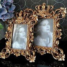 KYJHIHMS Europäische Vintage Gravur Krone