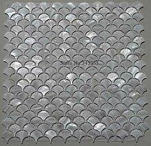 KYKDY 11 STÜCKE Weiß Fischschuppenschale Mosaik