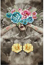 KYKDY Abstract girl 3d tapete wandbild für