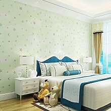 KYKDY Kinderzimmer Tapete Rosa Blau 3D Sterne Und