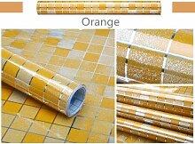 KYKDY Küche Wandaufkleber PVC Mosaik Tapete