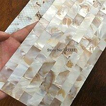 KYKDY natürliche streifen shell mosaik fliesen