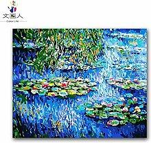 KYKDY Seerose Monet berühmte Gemälde von Zahlen