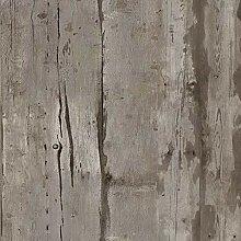 KYKDY Vintage faux Holz Tapete für Wohnzimmer TV