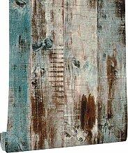 KYKDY Vintage Holz Plank Tapete für Wände 3d