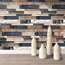 KYKDY Vintage Holz Tapete für Wände 3D
