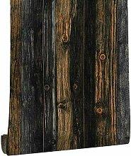 KYKDY Vinyl Holz Tapete für Wände 3d Rolls