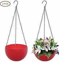 Kylewo 2er Set Blumentopf Hanging Sphere, Plastik