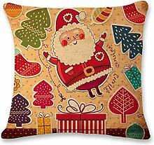 KYLong Baumwollkissen Weihnachtsmann Englisch