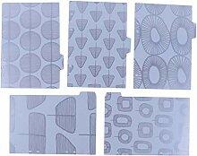 KYMLL 5 Sheets/Pack Nette Blatt Textur PVC Planer