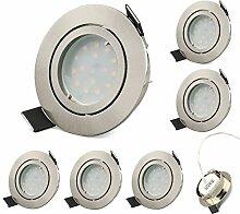 KYOTECH LED Einbaustrahler 6er Set Schwenkbar