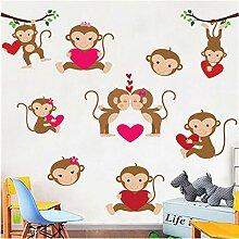 Kyzaa Cute Monkey Wandaufkleber Für Kinderzimmer