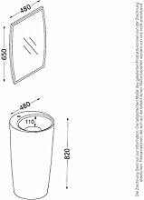 KZOAO-Badeset Waschsäule IV + Spiegel,