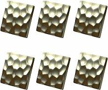 L 'Agape Möbelknopf für Schrank, Schubladen, Zink, silberfarben, 5x 5x 3cm, 6Stück