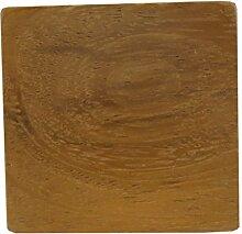 L 'Agape Möbelknopf Möbelgriff, Schubladen, Holz, Braun und Rot, 4.30x 4.30x 3cm