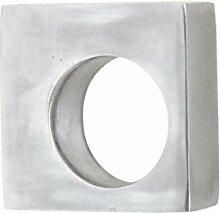 L 'Agape Poha–Möbelknopf Möbelgriff Schubladenknopf aus recyceltem Aluminium, moderner Stil) Silber