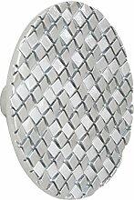 L 'Agape thterre Ma Zink Möbelgriff Küchengriff Schubladengriff, rund, modernen Stil) Silber