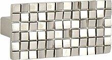 L 'Agape thzeus Mas Möbelgriff Küchengriff Schubladengriff Zink, rechteckig, modernen Stil) Silber