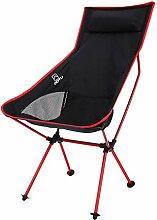 L- Camping-Stuhl, High Back Portable Mit Carry Bag