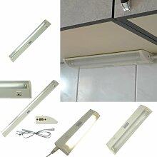 L&E®24150200 - Unterbauleuchte, Küchenunterbauleuchte 13 Watt, Küchenlampe, Lichtleiste. Gehäusefarbe: weiß. Gehäuse aus Metall mit durchsichtiger Kunststoffabdeckung. (1x 13 Watt Länge ca. 557 mm). Schrankleuchte, Küchenleuchte, Aufbauleuchte.