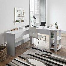 L-förmiger Computer und Büroschreibtisch,