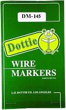 L.H. Dottie dm145Draht Marker Buch, 1bis 45Legend