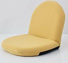 L-R-S-F Einzelne Kleine Sofa Lounge Stuhl Stoff Bett Faule Sofa Stuhl Folding Mini Mittagspause ( Farbe : Gelb )