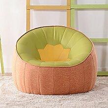 L-R-S-F Einzelnes Sofa Stuhl Schlafzimmer Lazy Sofa Lounge Chair Kleines Sofa ( Farbe : Orange. )