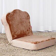 L-R-S-F Faul Sofa Einzigen Folding Dorm Bett Rückenlehne Stuhl Schlafzimmer Erker Kleines Sofa Niedlichen Mini ( Farbe : Braun )