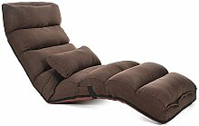 L-R-S-F Faul Sofa Stuhl Einzelfenster Schlafzimmer Mittagspause Faltbare Abnehmbare Kleine Schlafsofa Liege ( Farbe : Braun )