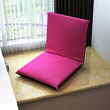 L-R-S-F Faule Leinen Sofa Faltbare Kissen Bett Rückenlehne Stuhl Computer Sofa ( Farbe : E )