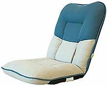 L-R-S-F Lazy Sofa Dicker Nacht Rück Sofa Einzel Picknick Schlafsaal Stuhl Stuhl ( Farbe : Blue. )