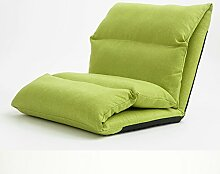 L-R-S-F Lazy Sofa Dicker Nacht Sofa Einzel Sofa Fenster Sandwich Stuhl ( Farbe : Grün )