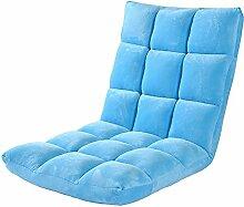 L-R-S-F Lazy Sofa Einzelbett Balkon Stuhl Boden Sofa ( Farbe : Blau )