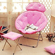 L-R-S-F Lazy Sofa, Faule Stuhl, Nachmittag Stuhl, Klappstuhl, Rückenlehne Stuhl, Sonnenstuhl, Moon Chair, Sunset Sofa ( Farbe : B1 )