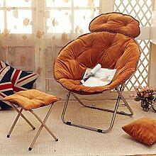 L-R-S-F Lazy Sofa, Faule Stuhl, Nachmittag Stuhl, Klappstuhl, Rückenlehne Stuhl, Sonnenstuhl, Moon Chair, Sunset Sofa ( Farbe : B7 )