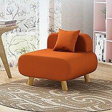L-R-S-F Lazy Sofa, Wohnzimmer Sofa Stuhl, Einzel Kleines Sofa, Schlafzimmer Zurück Kissen (Baumwolle Und Leinen) ( Farbe : Orange )