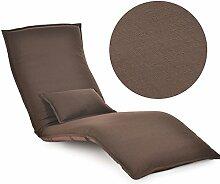 L-R-S-F Liege Sofa Recliner Stuhl Folding Sofa Bett Balkon Erker Stuhl Freizeit Stuhl ( Farbe : Braun )
