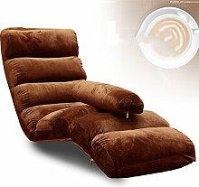 L-R-S-F Liege Sofa Stuhl Abnehmbare Reinigung Klappsofa Stuhl Balkon Liegestuhl ( Farbe : Braun )