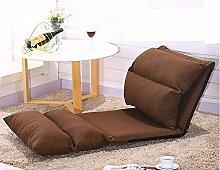 L-R-S-F Sofa Leinen Mode Einfache Einzel Klappbett Schlafzimmer Kleines Sofa Zurück Klappe Fenster Stuhl ( Farbe : Braun )