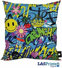 L&S PRINTS FOAM DESIGNS Bunte Graffiti Abstrakt