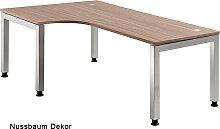 L-Schreibtisch HMB Jena 200 x 120-80 cm Auswahl