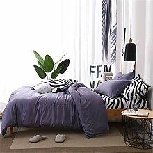 L&SH Zebra-gemustertes Bettwäscheset,