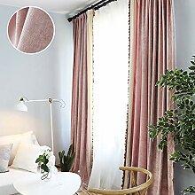 L&T Volltonfarbe Vintage Blickdicht Vorhang
