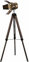 L&WB Holz Dreibein Stehlampe, Vintage Retro Stativ