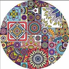 L&WB Runde Vinyl-Teppich-Imitation Zement